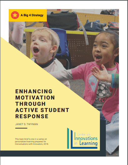 Enhancing Motivation Through Active Student Response Cover